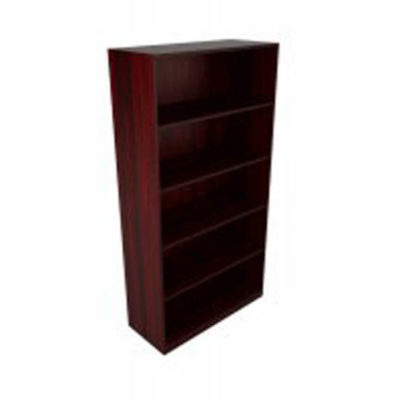 Brown tall bookshelf for storage