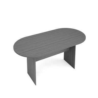 8' Racetrack Conference Table in Gray