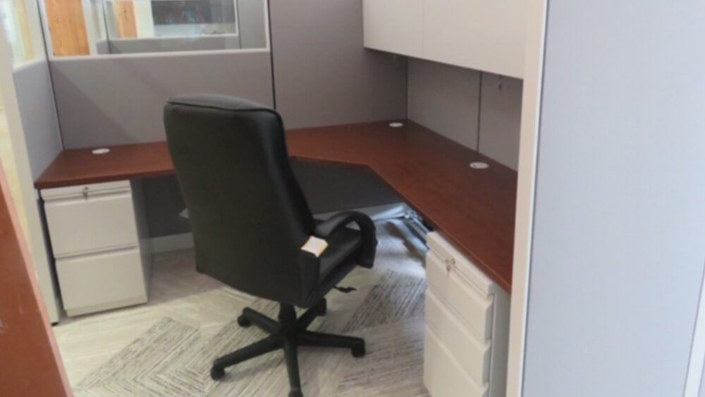 Office Chair in Cubicle