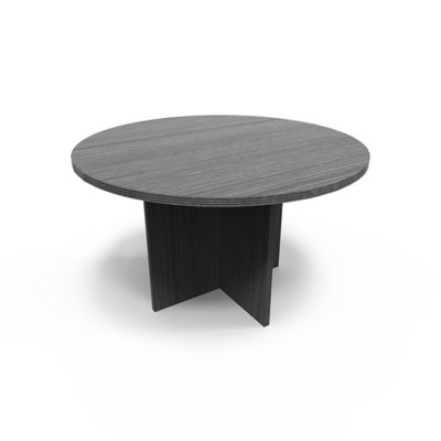 RT42 Gray Round Conference Table