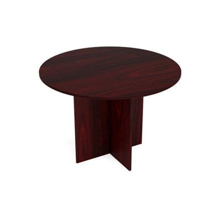 Round Conference Table in Mahogany