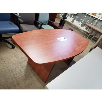 6 Foot Boat Shaped Table Cherry
