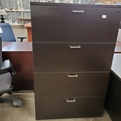 Four Drawer File Cabinet in Black Cherry