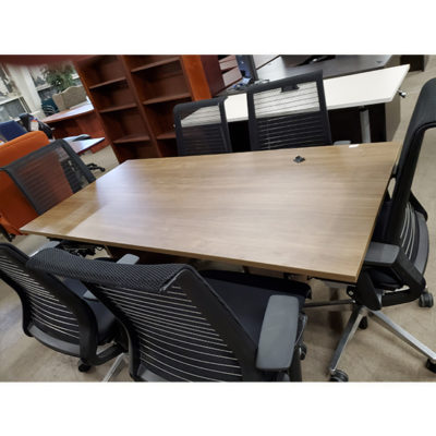 Walnut FInished Rectangle Conference Table