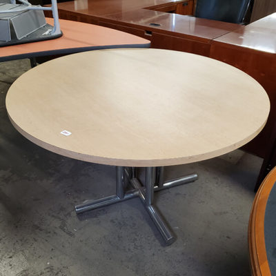 Round Table with Silver Base