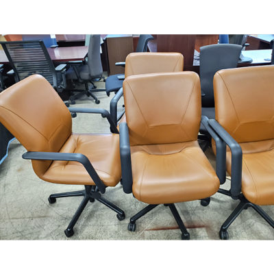 Saint Timothy Leather Chairs