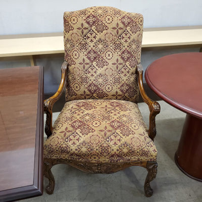 Ornate Fabric Guest Chairs