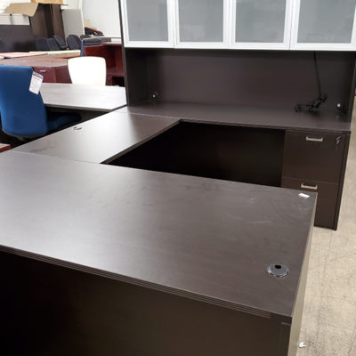 Glass Door Hutch and matching desk