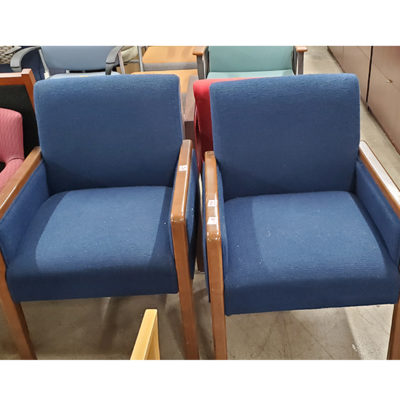 Waiting room chairs in blue