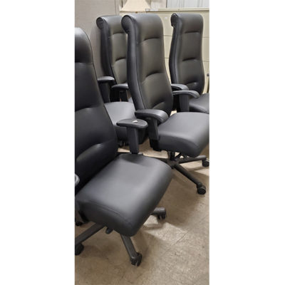 Black high back office chairs