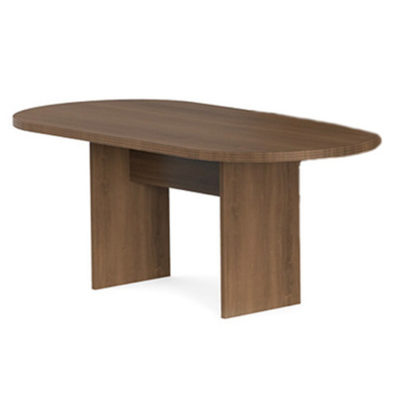 6 foot racetrack conference table in Park Walnut