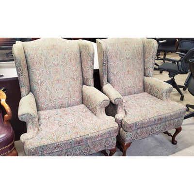 Paisely-Pattern-Wing-Chairs