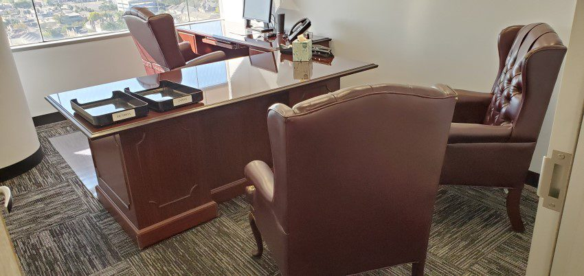 Law Office Desk and Chairs